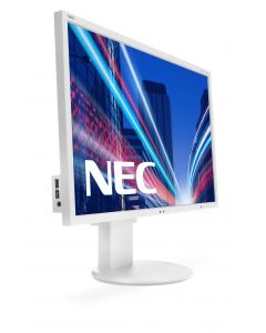 NEC EA244WMI - 24Wide Screen TFT LCD White/White  :  Screen Rotation  :  USB2 : LED Backlight : EPEAT Gold : IPS Panel (Manufacturer's SKU:60003409)'